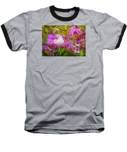 The Garden Of White Dove Baseball T-Shirt by Olga Hamilton