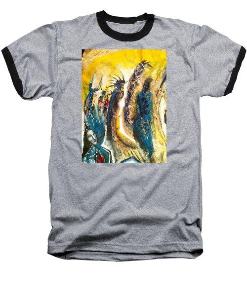 The Gathering Baseball T-Shirt by Kicking Bear  Productions