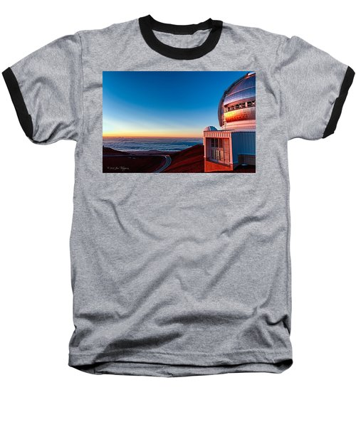 Baseball T-Shirt featuring the photograph The Glow Of The Warm Sunset Reflecting Off Of The Gemini 8.1m Op by Jim Thompson