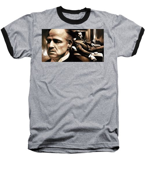 The Godfather Artwork Baseball T-Shirt