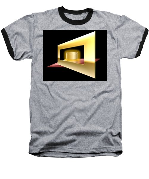 Baseball T-Shirt featuring the digital art The Golden Can by Cyril Maza