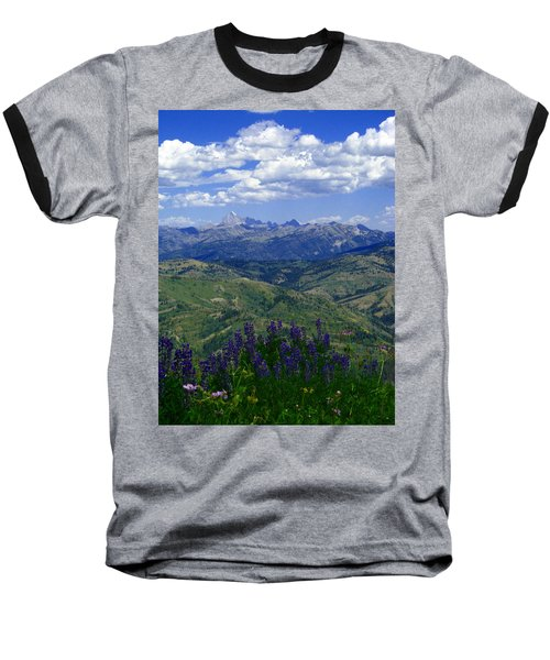 Baseball T-Shirt featuring the photograph The Grand And Lupines by Raymond Salani III