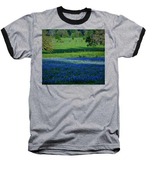 Baseball T-Shirt featuring the photograph The Pastures Of Central Texas by John Glass