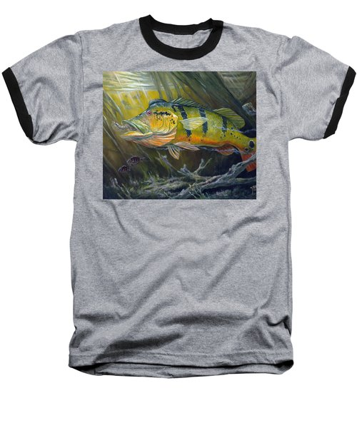 The Great Peacock Bass Baseball T-Shirt