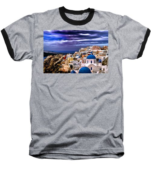 The Greek Isles Santorini Baseball T-Shirt