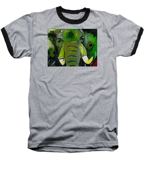 The Green Elephant In The Room Baseball T-Shirt