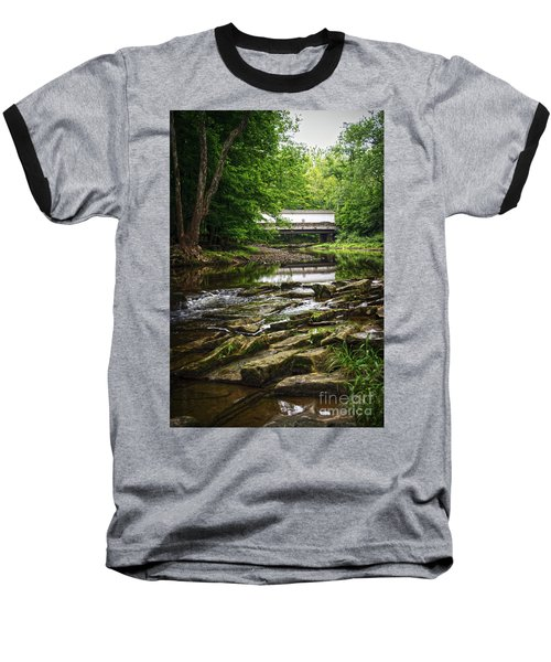 Baseball T-Shirt featuring the photograph The Green Sergeants Covered Bridge II by Debra Fedchin