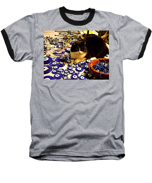 The Guard Of Evil Eye Beads Baseball T-Shirt by Zafer Gurel