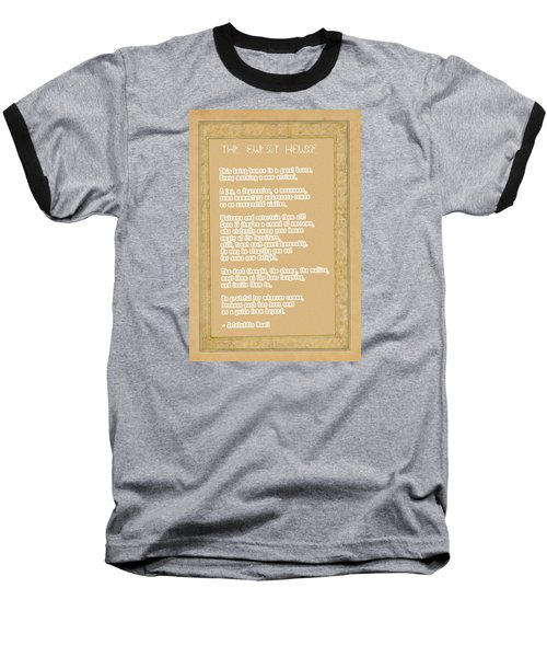 The Guest House Poem By Rumi Baseball T-Shirt by Celestial Images