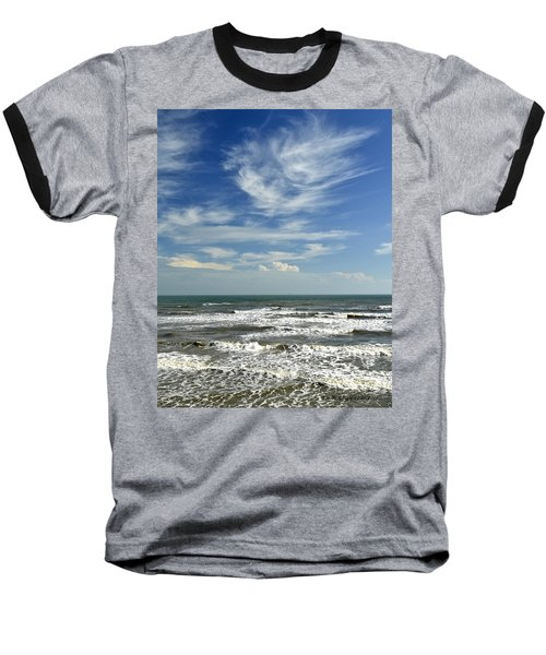The Gulf Of Mexico From Galveston Baseball T-Shirt