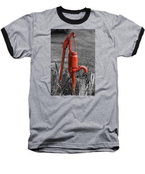 The Hand Pump Baseball T-Shirt by Barbara McMahon