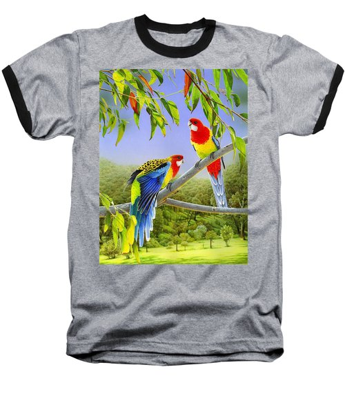 The Happy Couple - Eastern Rosellas  Baseball T-Shirt