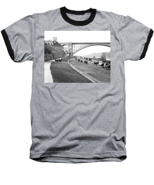 The Harlem River Speedway Baseball T-Shirt by Detroit Publishing Company