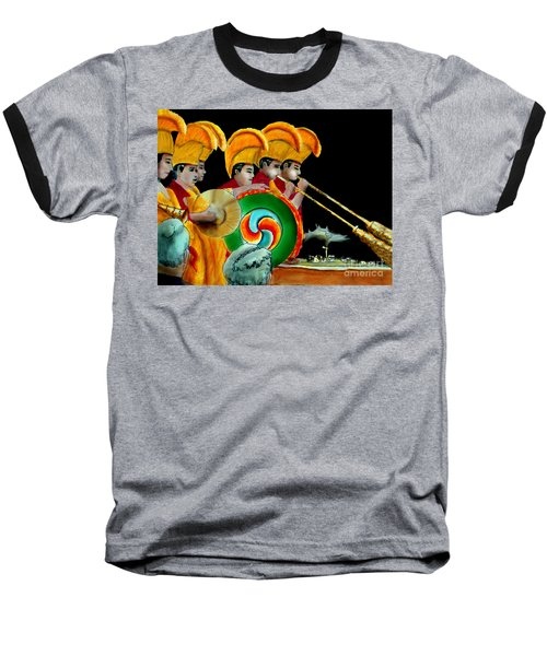 Baseball T-Shirt featuring the painting The Healing Ceremony by Albert Puskaric