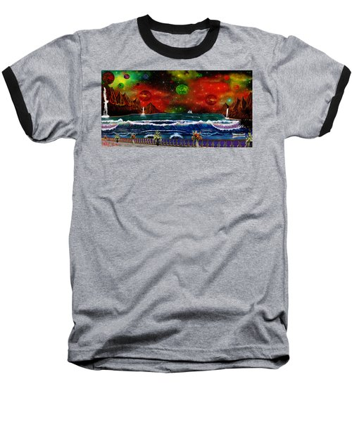 Baseball T-Shirt featuring the painting The Heavens by Michael Rucker