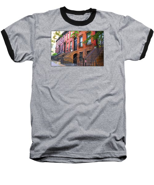The Historic Brownstones Of Brooklyn Baseball T-Shirt