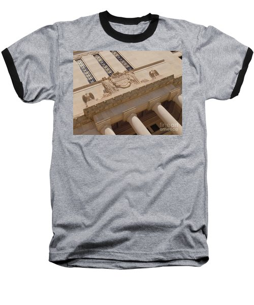 Baseball T-Shirt featuring the photograph The Historical Federal Reserve Bank Of Dallas by Robert ONeil