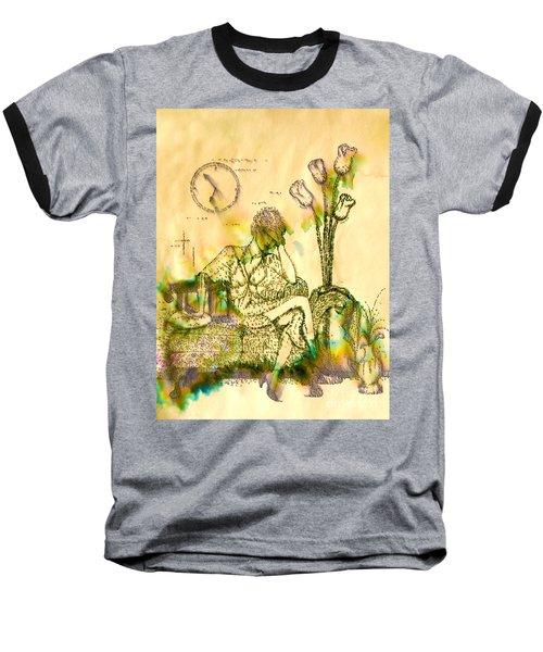 The Hold Up Sepia Tone Baseball T-Shirt