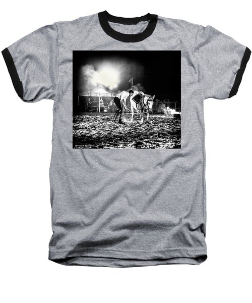 Baseball T-Shirt featuring the photograph The Horse That Suffered  by Stwayne Keubrick