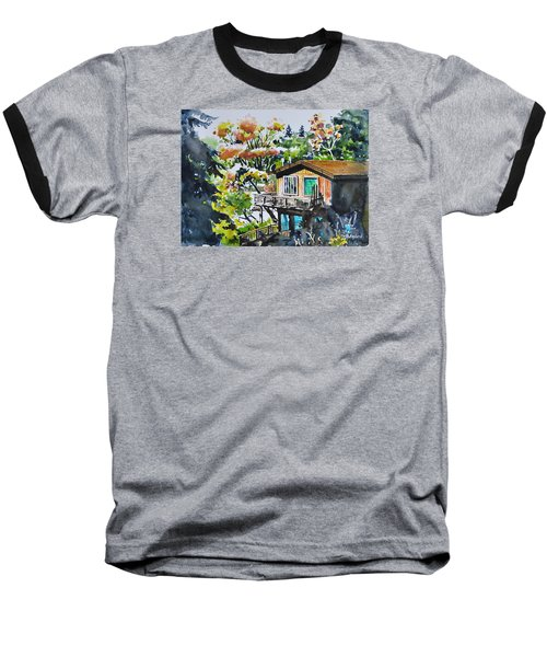 The House Hiding In The Bushes Baseball T-Shirt