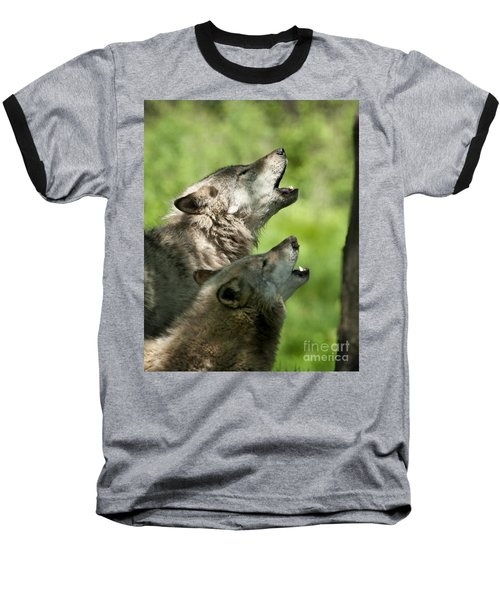 Baseball T-Shirt featuring the photograph The Howling by Wolves Only
