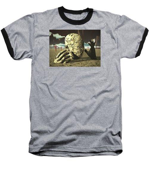 Baseball T-Shirt featuring the digital art The Immutable Dream by John Alexander