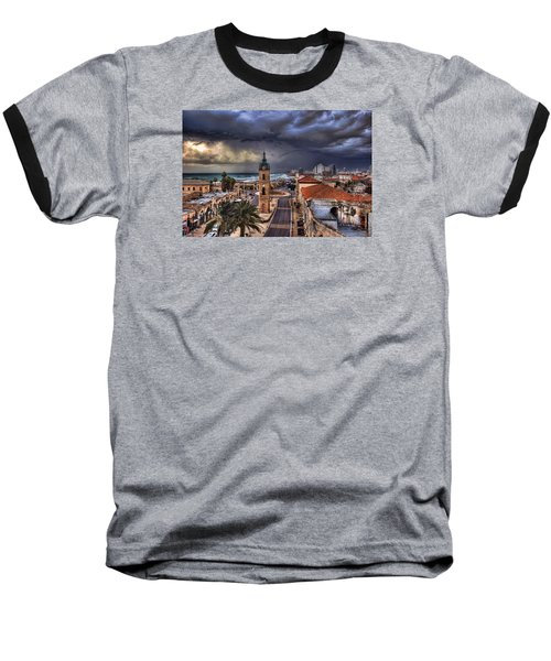 the Jaffa old clock tower Baseball T-Shirt by Ronsho