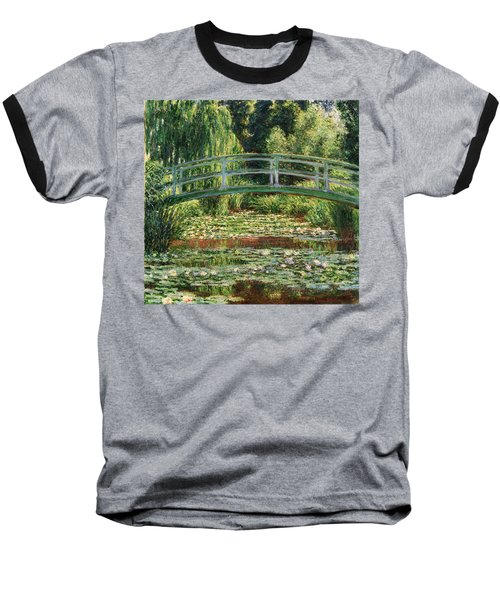 The Japanese Footbridge And The Water Lily Pool Giverny Baseball T-Shirt by Claude Monet