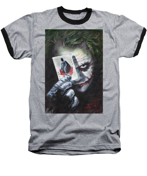 The Joker Heath Ledger  Baseball T-Shirt