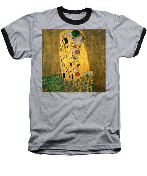 The Kiss Baseball T-Shirt by Gustive Klimt