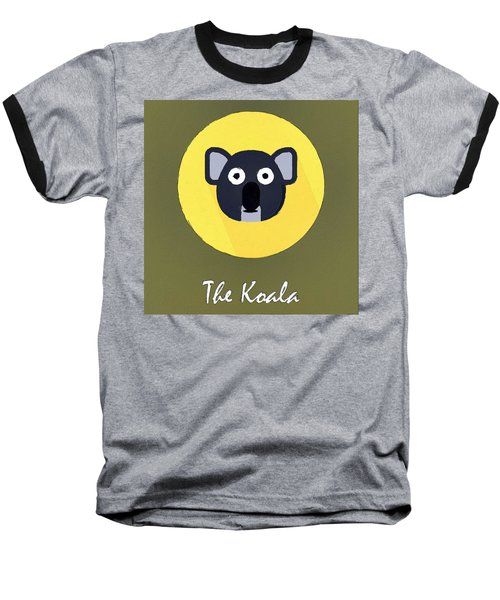 The Koala Cute Portrait Baseball T-Shirt by Florian Rodarte
