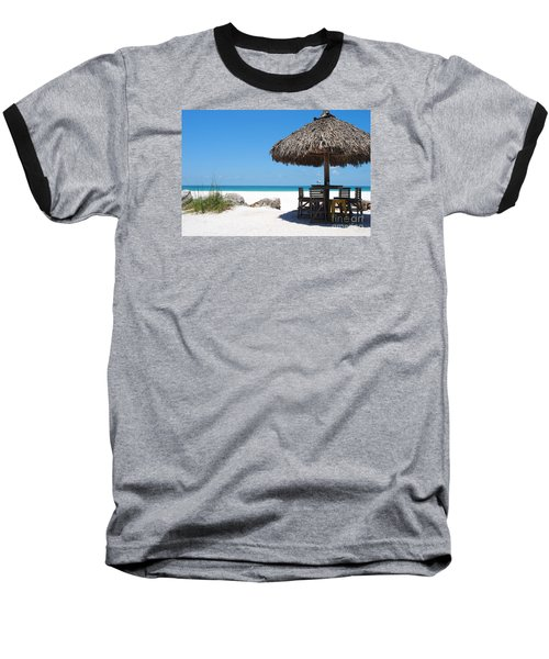 The Kokonut Hut  Baseball T-Shirt by Margie Amberge