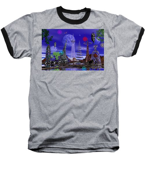 Baseball T-Shirt featuring the photograph The Lakes Of Zorg by Mark Blauhoefer