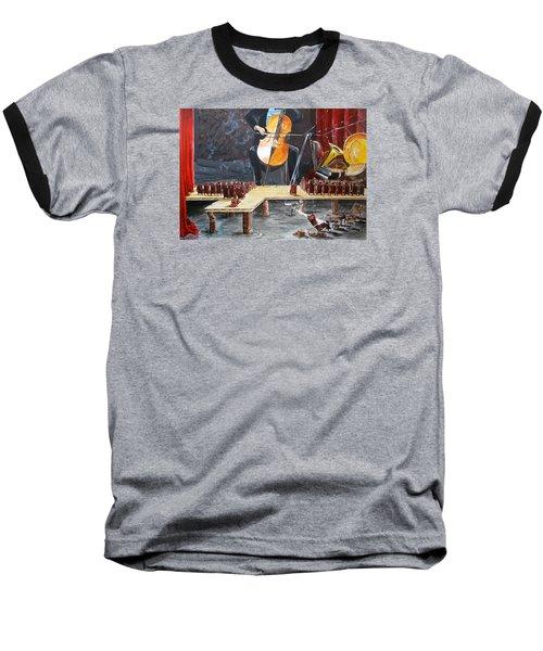 The Last Concert Listen With Music Of The Description Box Baseball T-Shirt by Lazaro Hurtado