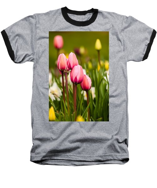 The Last Drops Of Dew Baseball T-Shirt by Melinda Ledsome