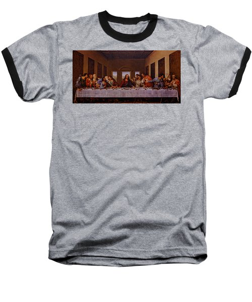 The Last Supper Baseball T-Shirt by Jonathan Davison