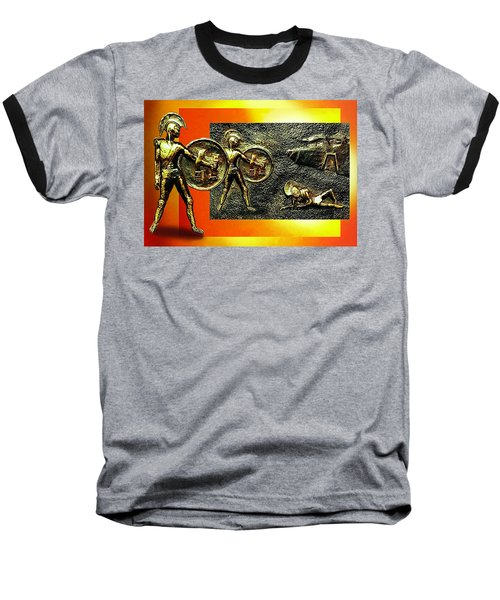 Baseball T-Shirt featuring the relief The Legends Of Troy. . .  by Hartmut Jager