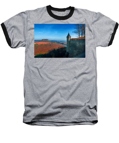 The Lilienstein Behind The Fortress Koenigstein Baseball T-Shirt