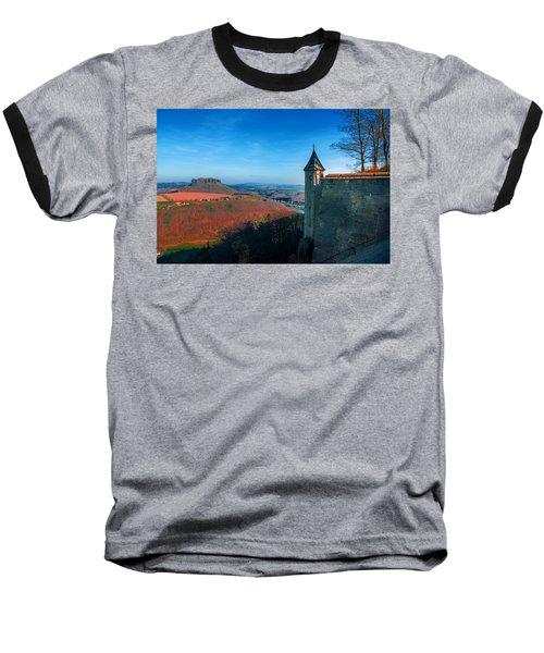 The Lilienstein Behind The Fortress Koenigstein Baseball T-Shirt
