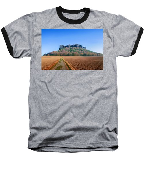 The Lilienstein On An Autumn Morning Baseball T-Shirt