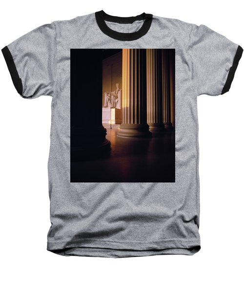 The Lincoln Memorial In The Morning Baseball T-Shirt by Panoramic Images