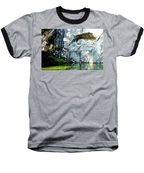 The Lion Monument In Lucerne Switzerland Baseball T-Shirt