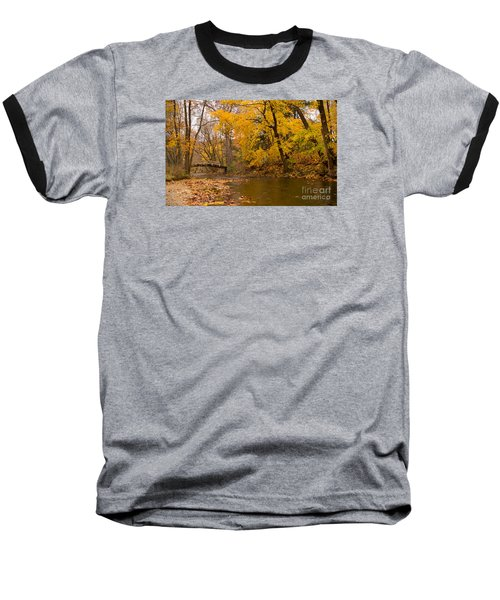 Baseball T-Shirt featuring the photograph The Little Bridge Over Valley Creek by Rima Biswas