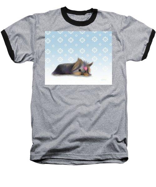 The Little Thinker  Baseball T-Shirt by Catia Cho