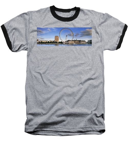 The London Eye Baseball T-Shirt by Rod McLean