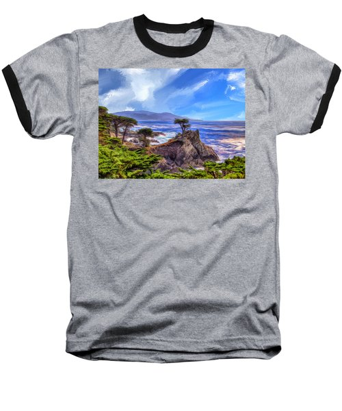 The Lone Cypress Baseball T-Shirt by Dominic Piperata