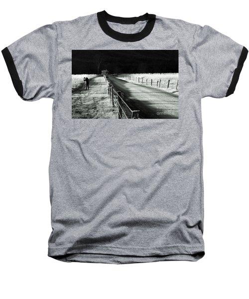 The Lone Photographer Baseball T-Shirt by Douglas Stucky