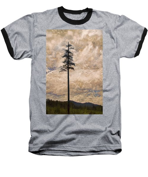 The Lone Survivor Stands In Tranquility Baseball T-Shirt by Peggy Collins