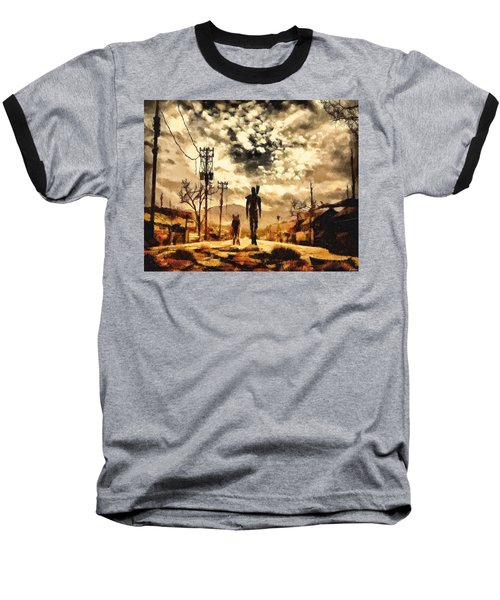 The Lone Wanderer Baseball T-Shirt by Joe Misrasi