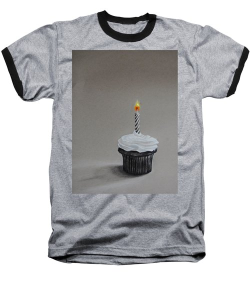 The Loneliest Birthday Ever Baseball T-Shirt by Jean Cormier